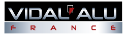 Vidal Alu France Logo